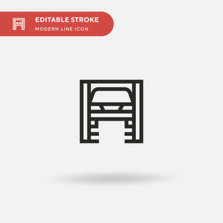 Car Repair Simple vector icon. Illustration symbol design template for web mobile UI element. Perfect color modern pictogram on editable stroke. Car Repair icons for your business project