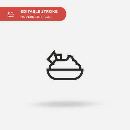 Hummus Simple vector icon. Illustration symbol design template for web mobile UI element. Perfect color modern pictogram on editable stroke. Hummus icons for your business project