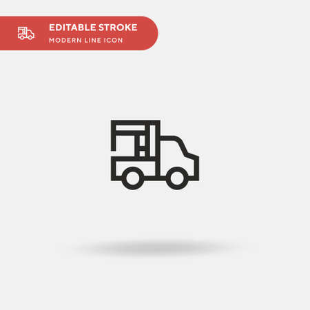 Tow Truck Simple vector icon. Illustration symbol design template for web mobile UI element. Perfect color modern pictogram on editable stroke. Tow Truck icons for your business project