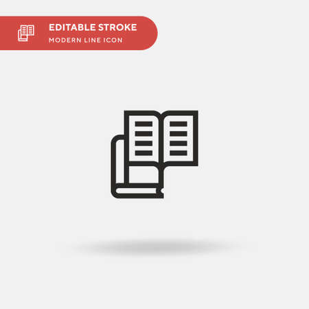 Literature Simple vector icon. Illustration symbol design template for web mobile UI element. Perfect color modern pictogram on editable stroke. Literature icons for your business project
