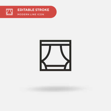 Scenario Simple vector icon. Illustration symbol design template for web mobile UI element. Perfect color modern pictogram on editable stroke. Scenario icons for your business project