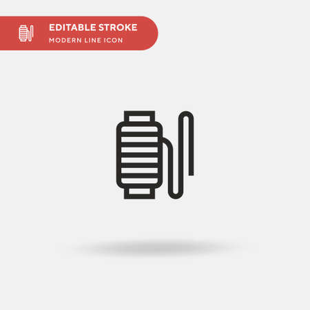 Thread Simple vector icon. Illustration symbol design template for web mobile UI element. Perfect color modern pictogram on editable stroke. Thread icons for your business project Vecteurs