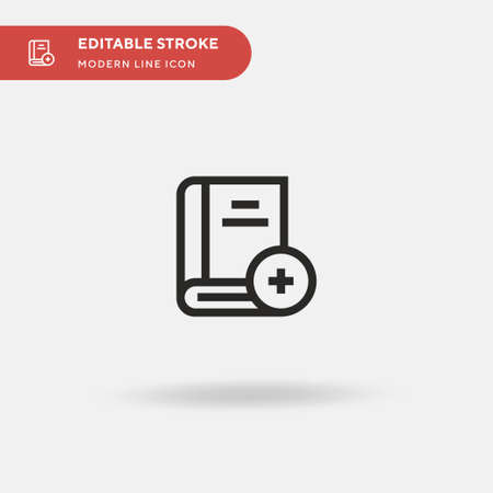 Add Simple vector icon. Illustration symbol design template for web mobile UI element. Perfect color modern pictogram on editable stroke. Add icons for your business project