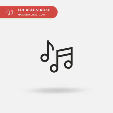 Quaver Simple vector icon. Illustration symbol design template for web mobile UI element. Perfect color modern pictogram on editable stroke. Quaver icons for your business project