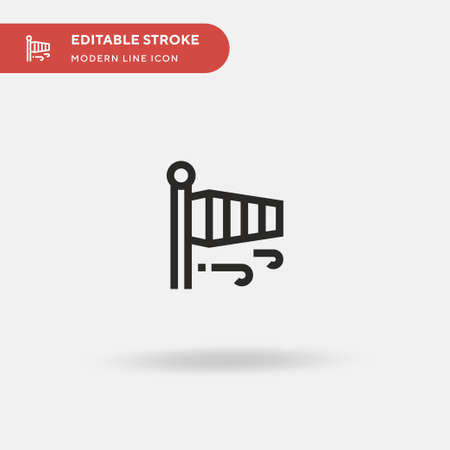 Wind Simple vector icon. Illustration symbol design template for web mobile UI element. Perfect color modern pictogram on editable stroke. Wind icons for your business project