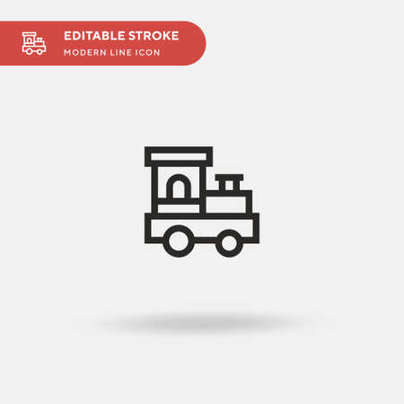 Train Toy Simple vector icon. Illustration symbol design template for web mobile UI element. Perfect color modern pictogram on editable stroke. Train Toy icons for your business project Vettoriali