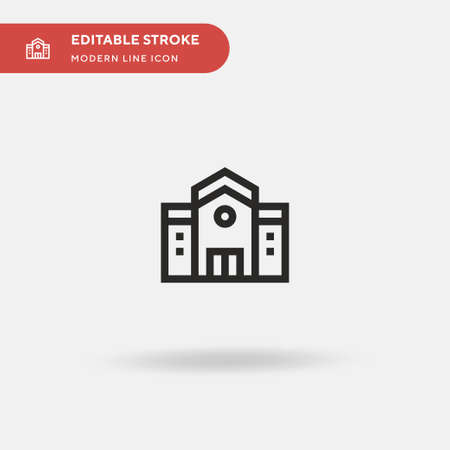 School Simple vector icon. Illustration symbol design template for web mobile UI element. Perfect color modern pictogram on editable stroke. School icons for your business project Vettoriali