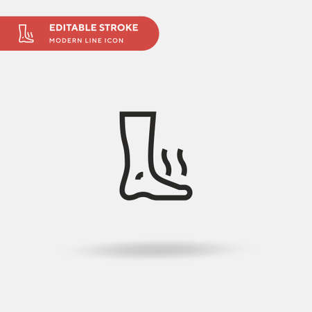 Foot Simple vector icon. Illustration symbol design template for web mobile UI element. Perfect color modern pictogram on editable stroke. Foot icons for your business project