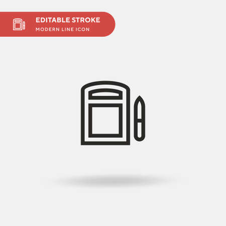 Telesketch Simple vector icon. Illustration symbol design template for web mobile UI element. Perfect color modern pictogram on editable stroke. Telesketch icons for your business project Vettoriali
