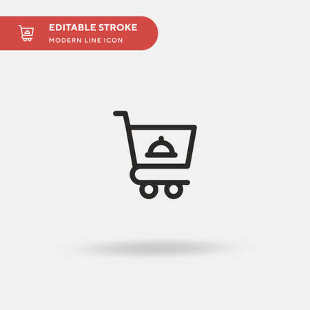 Shopping Cart Simple vector icon. Illustration symbol design template for web mobile UI element. Perfect color modern pictogram on editable stroke. Shopping Cart icons for your business project Ilustrace