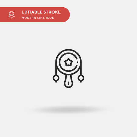 Rattle Drum Simple vector icon. Illustration symbol design template for web mobile UI element. Perfect color modern pictogram on editable stroke. Rattle Drum icons for your business project