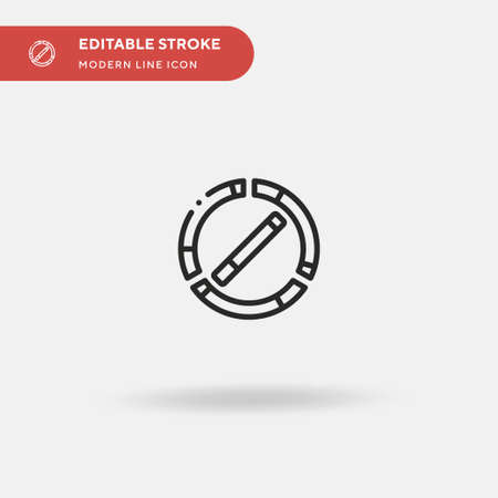 Quit Smoking Simple vector icon. Illustration symbol design template for web mobile UI element. Perfect color modern pictogram on editable stroke. Quit Smoking icons for your business project