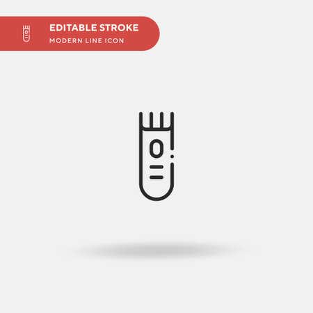 Electric Razor Simple vector icon. Illustration symbol design template for web mobile UI element. Perfect color modern pictogram on editable stroke. Electric Razor icons for your business project Vecteurs
