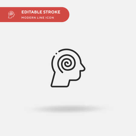 Hypnosis Simple vector icon. Illustration symbol design template for web mobile UI element. Perfect color modern pictogram on editable stroke. Hypnosis icons for your business project Vektorové ilustrace