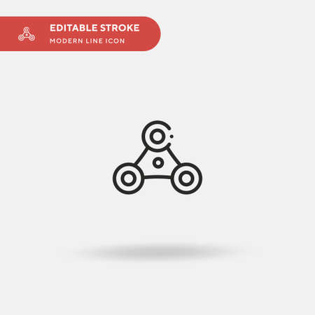 Fidget Spinner Simple vector icon. Illustration symbol design template for web mobile UI element. Perfect color modern pictogram on editable stroke. Fidget Spinner icons for your business project