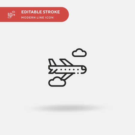 Flight Simple vector icon. Illustration symbol design template for web mobile UI element. Perfect color modern pictogram on editable stroke. Flight icons for your business project
