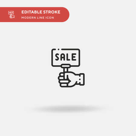 Sale Simple vector icon. Illustration symbol design template for web mobile UI element. Perfect color modern pictogram on editable stroke. Sale icons for your business project