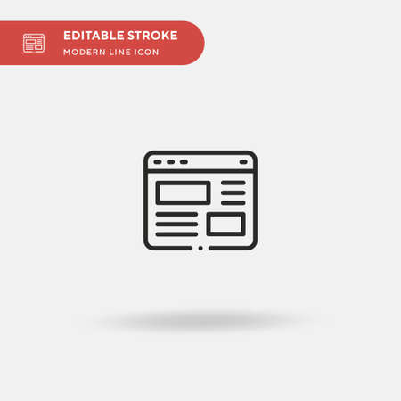 Web Page Simple vector icon. Illustration symbol design template for web mobile UI element. Perfect color modern pictogram on editable stroke. Web Page icons for your business project Ilustrace