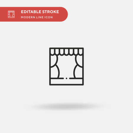 Theater Simple vector icon. Illustration symbol design template for web mobile UI element. Perfect color modern pictogram on editable stroke. Theater icons for your business project 일러스트