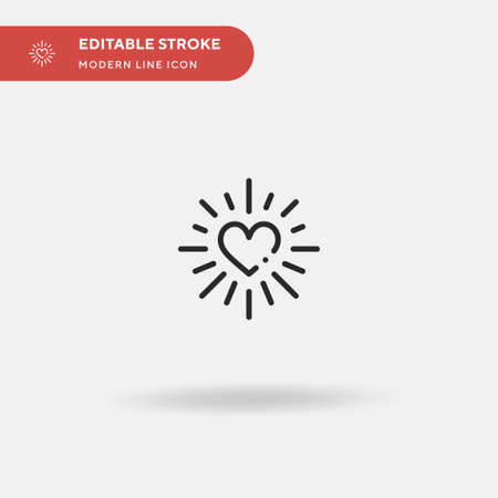Love Simple vector icon. Illustration symbol design template for web mobile UI element. Perfect color modern pictogram on editable stroke. Love icons for your business project