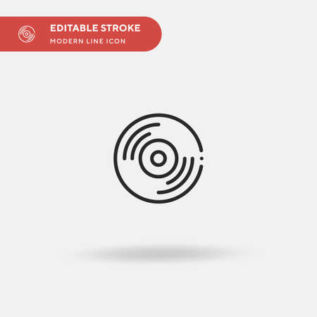 Cd Simple vector icon. Illustration symbol design template for web mobile UI element. Perfect color modern pictogram on editable stroke. Cd icons for your business project