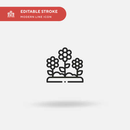 Flowers Simple vector icon. Illustration symbol design template for web mobile UI element. Perfect color modern pictogram on editable stroke. Flowers icons for your business project