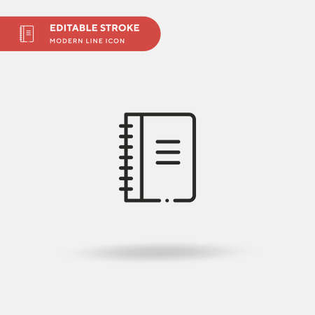 Notebook Simple vector icon. Illustration symbol design template for web mobile UI element. Perfect color modern pictogram on editable stroke. Notebook icons for your business project Ilustrace