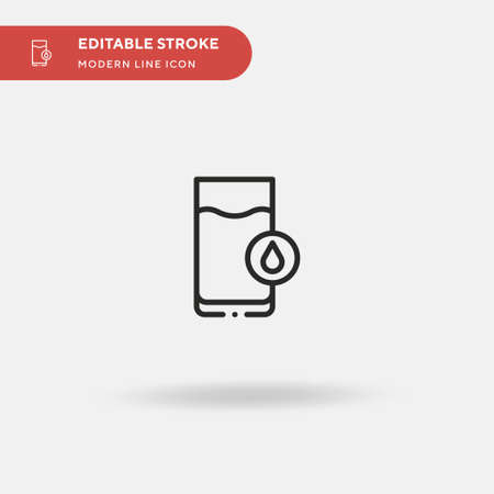 Mineral Water Simple vector icon. Illustration symbol design template for web mobile UI element. Perfect color modern pictogram on editable stroke. Mineral Water icons for your business project