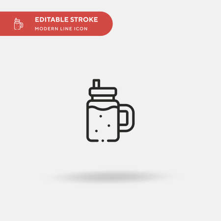 Smoothie Simple vector icon. Illustration symbol design template for web mobile UI element. Perfect color modern pictogram on editable stroke. Smoothie icons for your business project