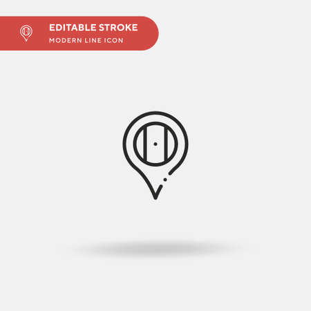 Mexico Simple vector icon. Illustration symbol design template for web mobile UI element. Perfect color modern pictogram on editable stroke. Mexico icons for your business project Vettoriali