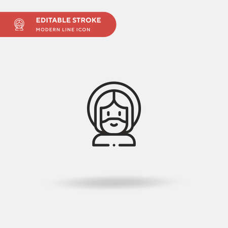 Jesus Simple vector icon. Illustration symbol design template for web mobile UI element. Perfect color modern pictogram on editable stroke. Jesus icons for your business project