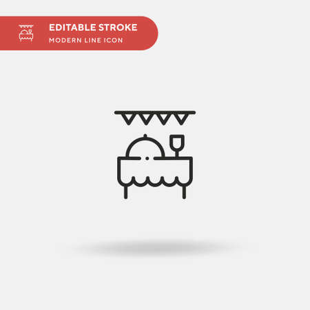 Party Simple vector icon. Illustration symbol design template for web mobile UI element. Perfect color modern pictogram on editable stroke. Party icons for your business project
