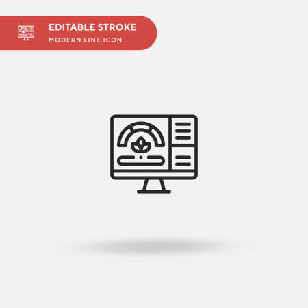 Smart Farm Simple vector icon. Illustration symbol design template for web mobile UI element. Perfect color modern pictogram on editable stroke. Smart Farm icons for your business project