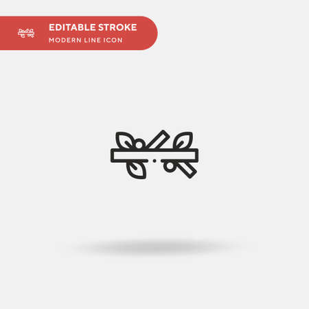 Branch Simple vector icon. Illustration symbol design template for web mobile UI element. Perfect color modern pictogram on editable stroke. Branch icons for your business project
