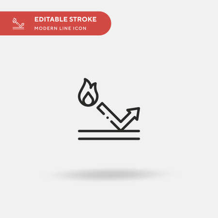 Heat Simple vector icon. Illustration symbol design template for web mobile UI element. Perfect color modern pictogram on editable stroke. Heat icons for your business project