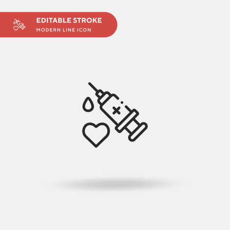 Vaccine Simple vector icon. Illustration symbol design template for web mobile UI element. Perfect color modern pictogram on editable stroke. Vaccine icons for your business project