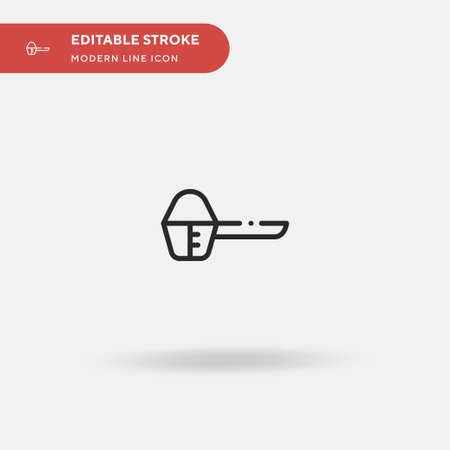 Protein Simple vector icon. Illustration symbol design template for web mobile UI element. Perfect color modern pictogram on editable stroke. Protein icons for your business project