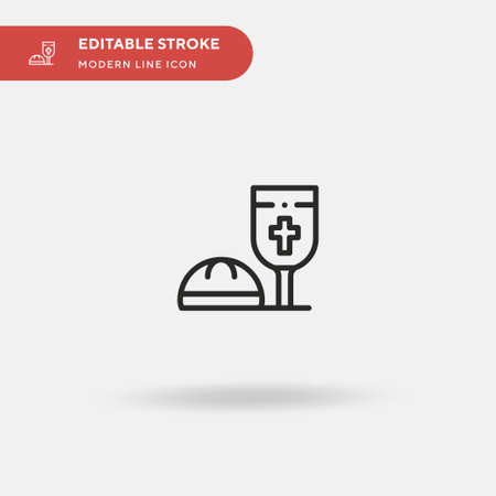 Eucharist Simple vector icon. Illustration symbol design template for web mobile UI element. Perfect color modern pictogram on editable stroke. Eucharist icons for your business project