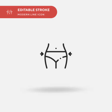 Fit Simple vector icon. Illustration symbol design template for web mobile UI element. Perfect color modern pictogram on editable stroke. Fit icons for your business project Vettoriali
