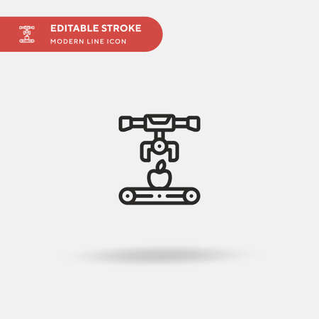 Conveyor Simple vector icon. Illustration symbol design template for web mobile UI element. Perfect color modern pictogram on editable stroke. Conveyor icons for your business project