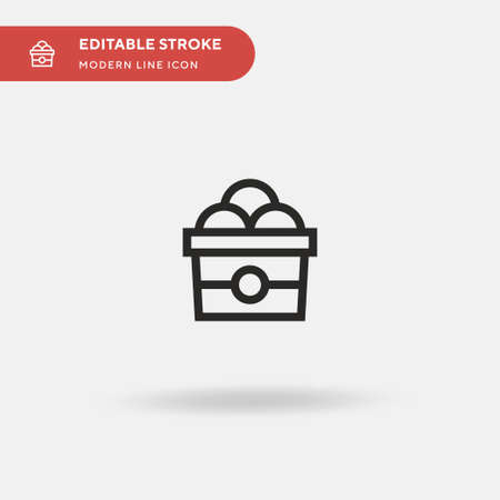 Ice Cream Simple vector icon. Illustration symbol design template for web mobile UI element. Perfect color modern pictogram on editable stroke. Ice Cream icons for your business project Vettoriali