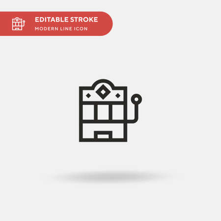 Jackpot Simple vector icon. Illustration symbol design template for web mobile UI element. Perfect color modern pictogram on editable stroke. Jackpot icons for your business project