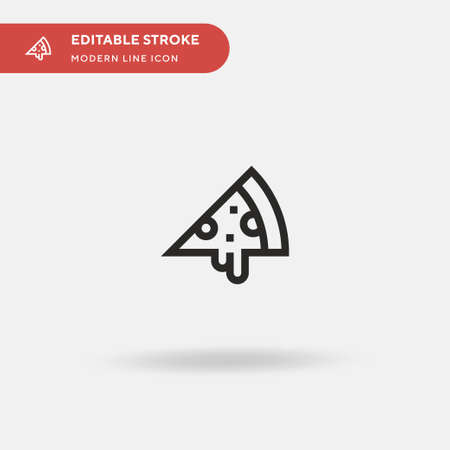 Pizza Slice Simple vector icon. Illustration symbol design template for web mobile UI element. Perfect color modern pictogram on editable stroke. Pizza Slice icons for your business project Vettoriali
