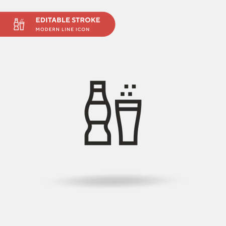 Soda Simple vector icon. Illustration symbol design template for web mobile UI element. Perfect color modern pictogram on editable stroke. Soda icons for your business project
