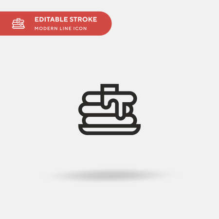 Crumpet Simple vector icon. Illustration symbol design template for web mobile UI element. Perfect color modern pictogram on editable stroke. Crumpet icons for your business project