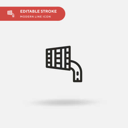Pouring Simple vector icon. Illustration symbol design template for web mobile UI element. Perfect color modern pictogram on editable stroke. Pouring icons for your business project