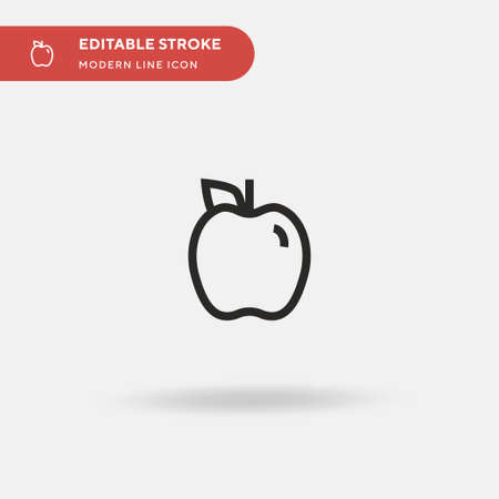 Apple Simple vector icon. Illustration symbol design template for web mobile UI element. Perfect color modern pictogram on editable stroke. Apple icons for your business project