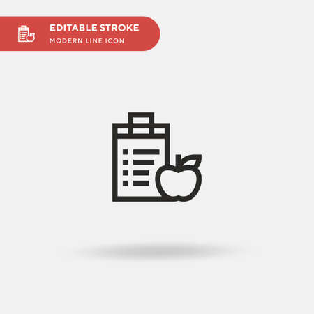 Nutrition Simple vector icon. Illustration symbol design template for web mobile UI element. Perfect color modern pictogram on editable stroke. Nutrition icons for your business project