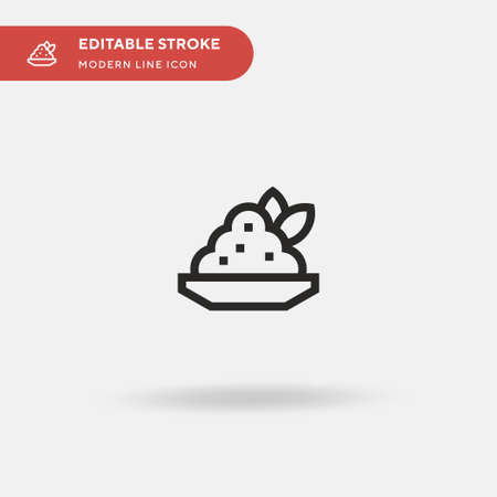 Stoemp Simple vector icon. Illustration symbol design template for web mobile UI element. Perfect color modern pictogram on editable stroke. Stoemp icons for your business project