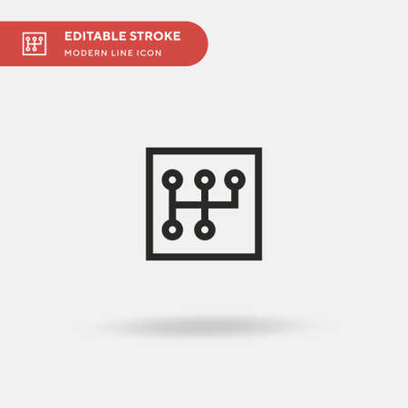 Gearshift Simple vector icon. Illustration symbol design template for web mobile UI element. Perfect color modern pictogram on editable stroke. Gearshift icons for your business project